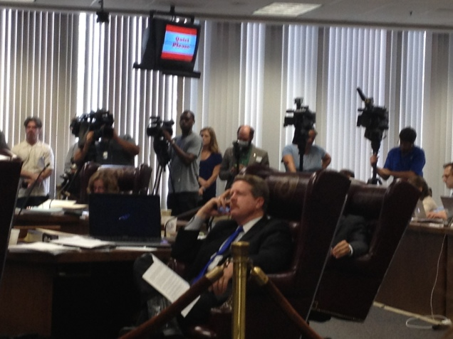Media at the Board of Education meeting