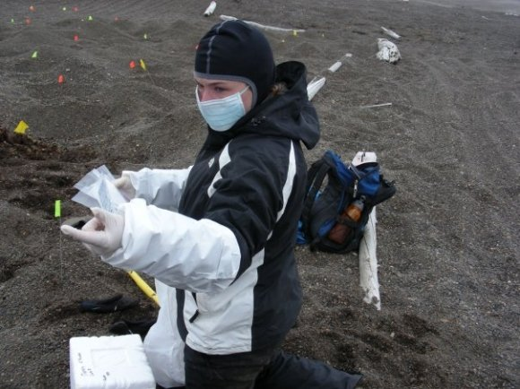 Excavating a cemetery in Barrow, AK. One of the best crews I've ever been on.