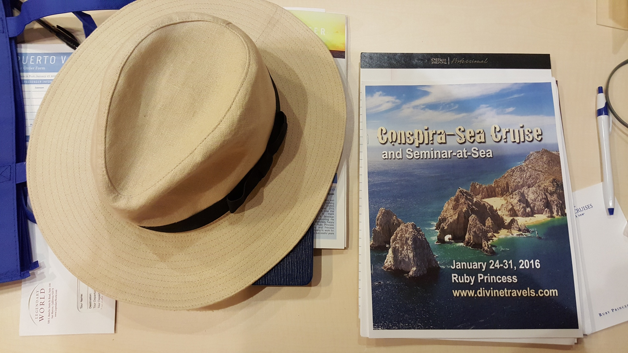 Itinerary and Cunning Hat